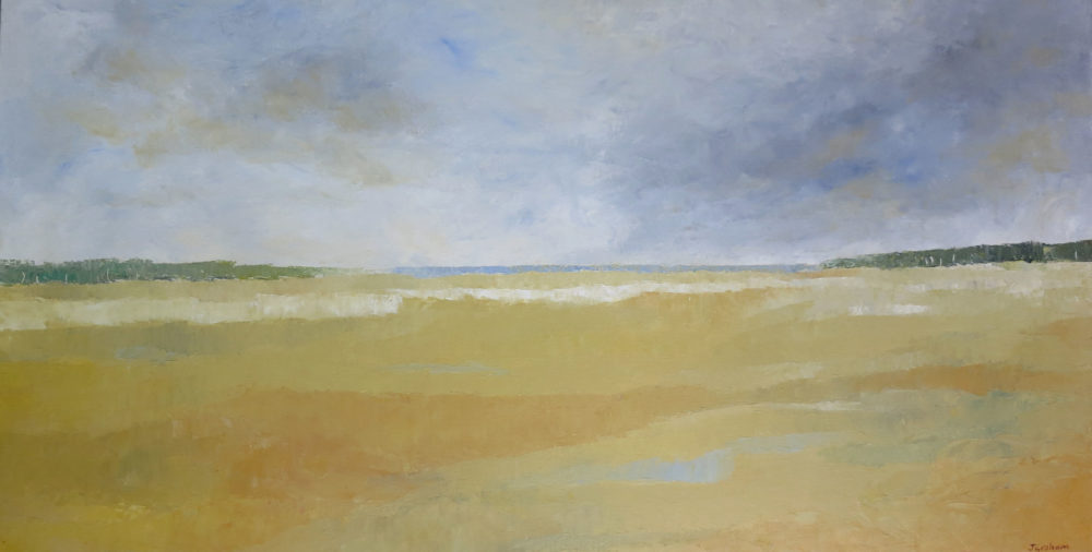 Rivermouth at low tide - 70 x 136 cm - Oil on cancas